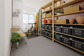 CGによる内装事例「納戸スペース」(スタジオ)